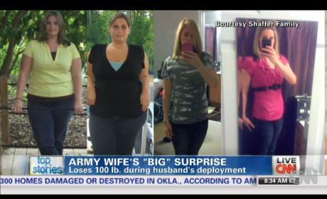 Army Wife Sheds 100 Pounds, Shocks Returning Husband