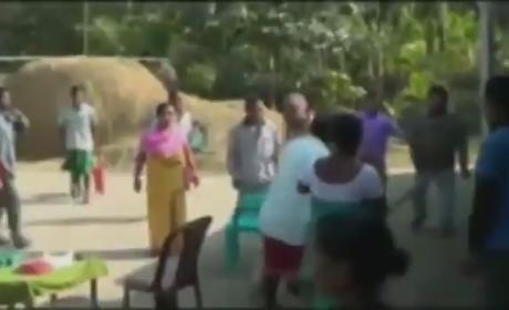 Indian Politician Bikram Singh Brahma Beaten By Women After Rape Allegation