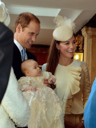Prince George at His Christening