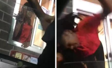 Girl Pulled From Drive-Thru Window By Her Hair: Insane Video