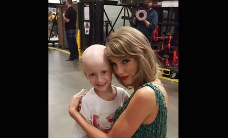 Taylor Swift with a Cancer Patient
