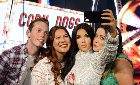 Kim Kardashian Wax Figure is Ready to Snap a Selfie