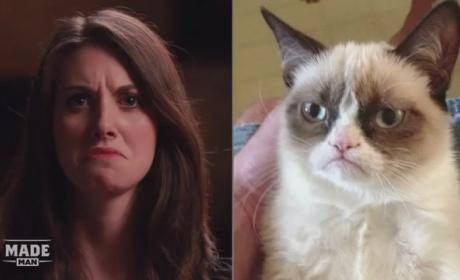 Alison Brie Imitates Grumpy Cat, Other Memes; Tries to Make Unsexy GIFs