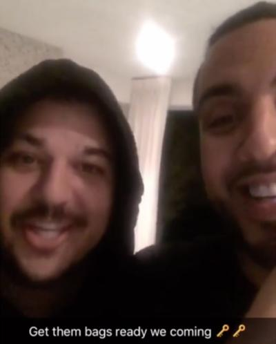 Rob Kardashian and French Montana