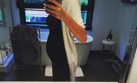 Chrissy Teigen Baby Bump Photo
