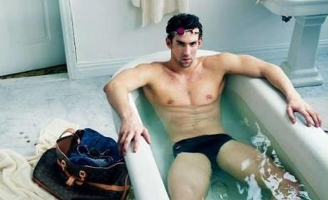 Michael Phelps: Taking a Bath for Louis Vuitton