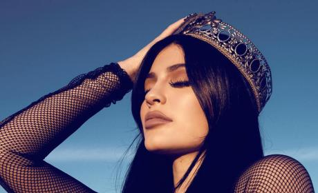Kylie Jenner with a Crown