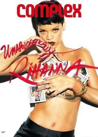 Rihanna With No Top in Complex