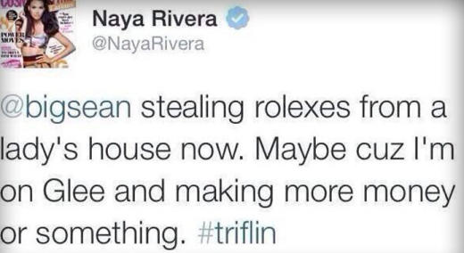Naya Rivera Tweet