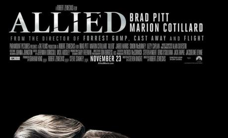 Brad Pitt and Marion Cotillard Poster