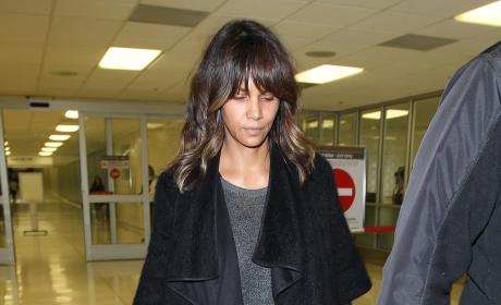 Halle Berry Lands at LAX