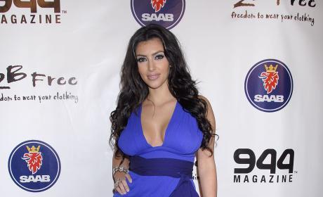 Kim Kardashian Blue Dress 2B Free Spring 2008 Collection