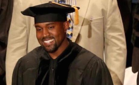 Kim Kardashian Congratulates DOCTOR Kanye West!