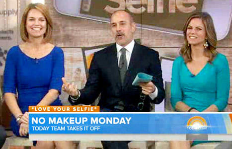 Savannah Guthrie and Matt Lauer: No Makeup!
