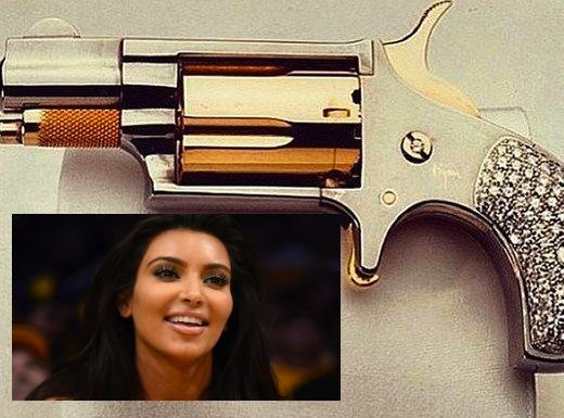 Kim Kardashian Gun Photo