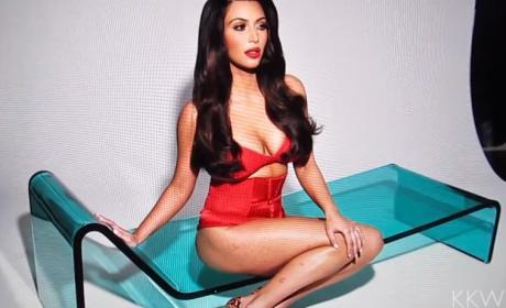 Kim Kardashian with Psoriasis