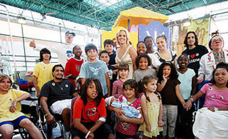 Britney Spears Visits Sick Kids, Grinds on Stripper Pole