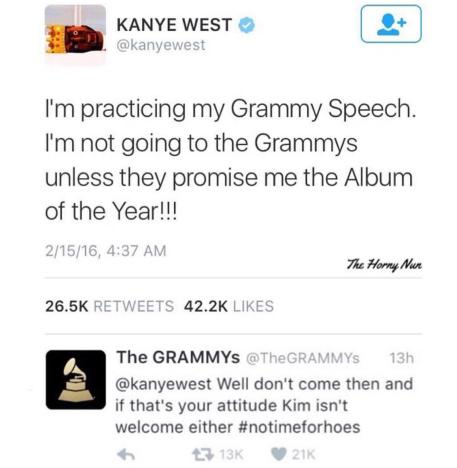 The Grammys Put Kanye West In His Place