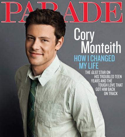 Cory Monteith Parade Magazine Cover