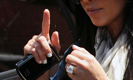 Kim Kardashian Engagement Ring Pic