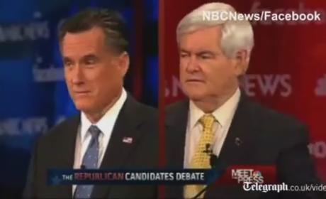 New Hampshire GOP Debate - Mitt Romney vs. Newt Gingrich