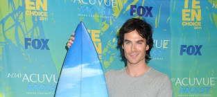 Who looked hotter at the TCAs: Ian Somerhalder or Kellan Lutz?