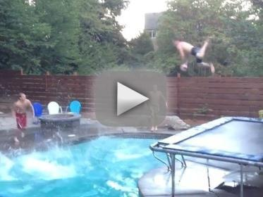 Swimming pool trick shot dunk even more insane than the - Awesome swimming pool trick shots ...