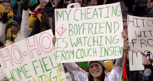 Packers Fan Sign