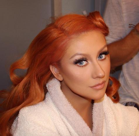Christina Aguilera Redhead