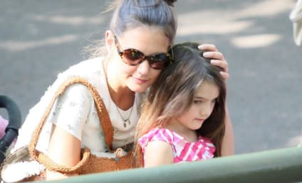 Katie Holmes and Suri Cruise: Uninjured in Garbage Truck Accident