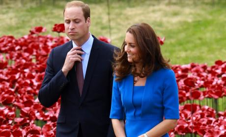 Kate Middleton and Prince William Walk