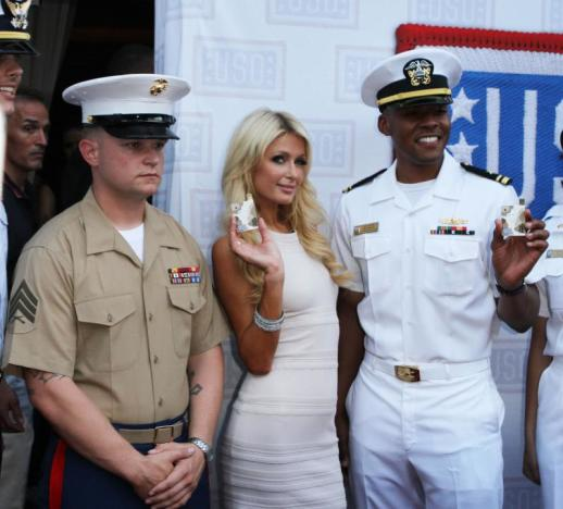 Saluting the Troops