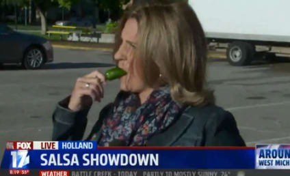 Reporter Eats Jalapeno on Air, Lives to Tell About It