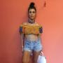 Kourtney Kardashian in cutoffs