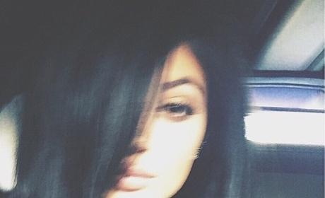 Kylie Jenner Mesh Shirt Selfie