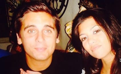 Scott Disick Kisses Kourtney Kardashian for Her Birthday