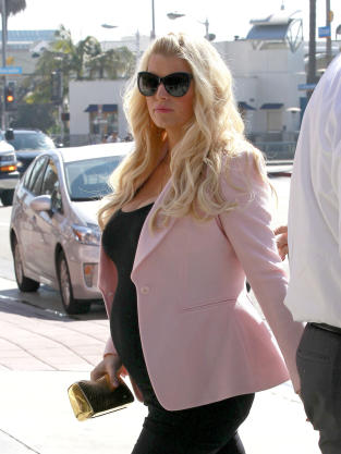 Jessica Simpson Baby Bump Picture