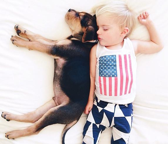 Beau and Theo Nap