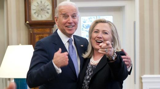 Joe Biden and Hillary Clinton