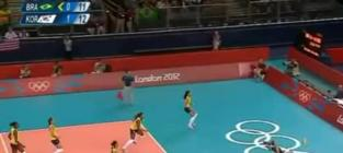 Brazil Volleyball Kick Save: The Best Play of the 2012 Olympics?