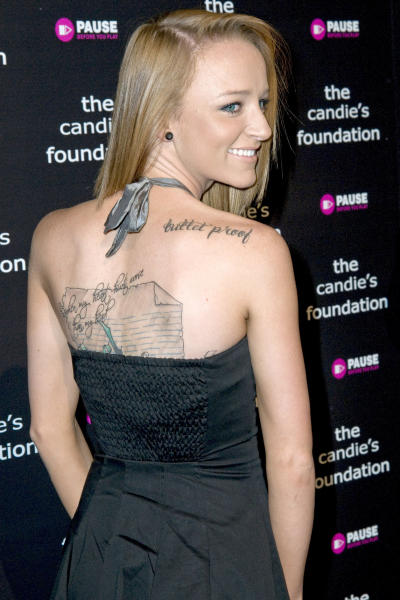 Maci Bookout Tattoos
