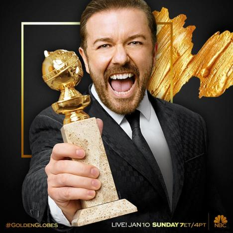 Ricky Gervais, Golden Globes 2016