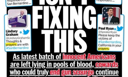 "God Isn't Fixing This: N.Y. Daily News Cover Slams ""Coward"" Politicians in Wake of Massacre"