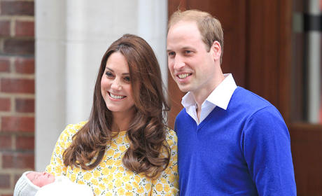 Kate Smiles with William