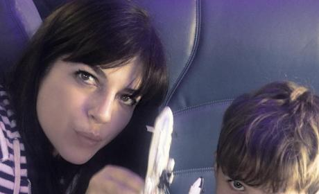 Selma Blair on a Plane