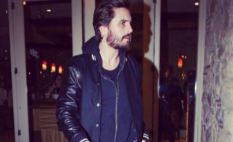 Scott Disick walks