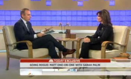Sarah Palin on Today: Talking Politics, Getting Grilled By Matt Lauer