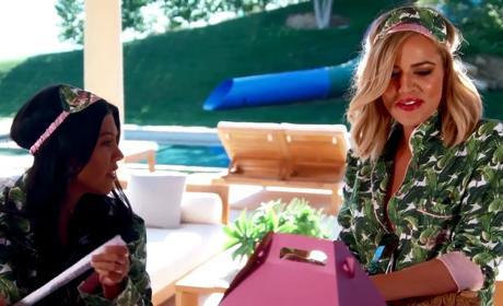 Khloe Kardashian at Home