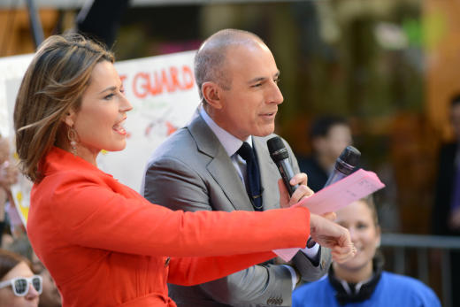 Matt Lauer on Today Set