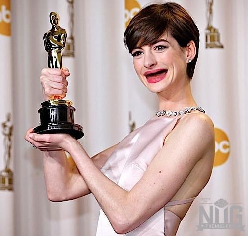 Anne Hathaway Ellen Drinking: 19 Celebrities Without Teeth
